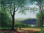 Kiselev Alexander - 'Summer Day. Bench in the Shade of a Tree'