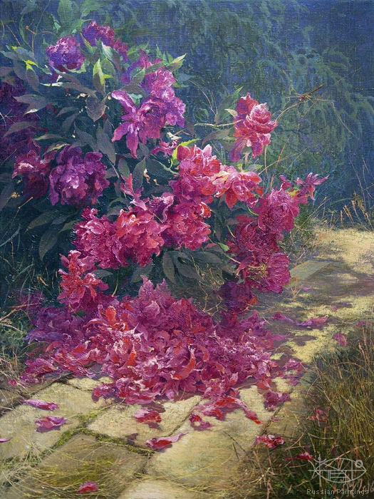 Klapoukh Yuri - 'Peonies after Rain'