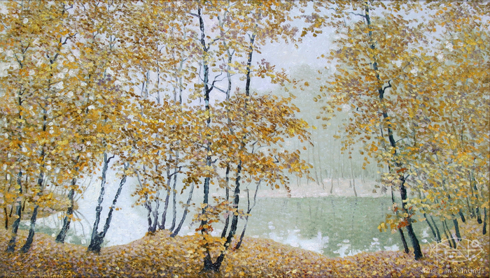 Krylov Vladimir - 'Pond in October'