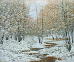 Krylov Vladimir - 'Snow on Yellow Leaves'
