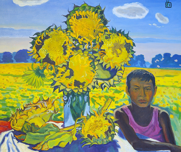 Lee Moesey - 'Boy and Sunflowers'