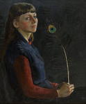 Lee Moesey - 'Girl with a Peacock Feather'