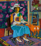 Lee Moesey  - 'Lady with a Red Doggie'
