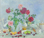 Lee Moesey - 'Roses on Table'