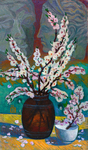 Lee Moesey - 'Still Life with Branches of Blossoming Apricot'