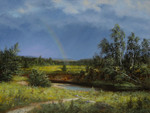 Lysak Gennadiy - 'Landscape with Rainbow'