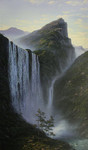 Lysak Gennadiy  - 'Mountain Waterfall (Austria)'