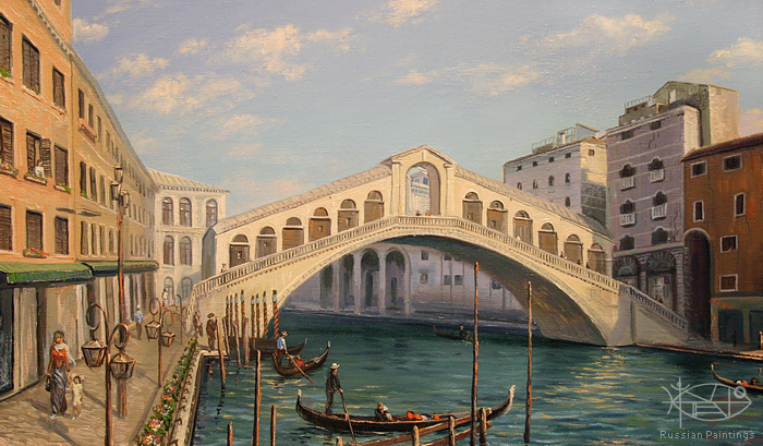 Lysak Gennadiy - 'The Rinalto Bridge. Venice'