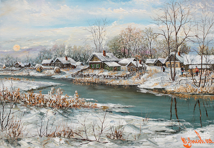 Lysov Yuriy - 'Winter Morning'