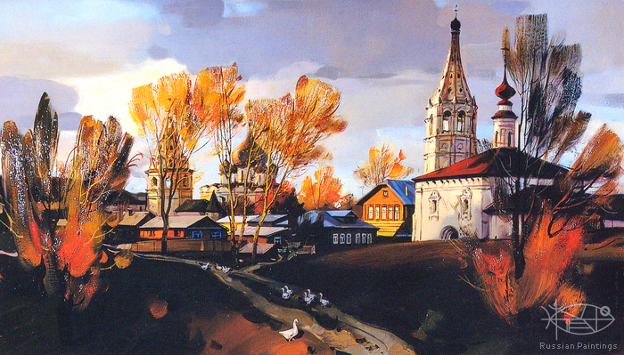 Matreshin Alexander - 'Autumn Night. The Nikolskaya Church'