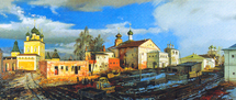 Matreshin Alexander - 'Construction Works  in the Borisoglebskiy Monastery'