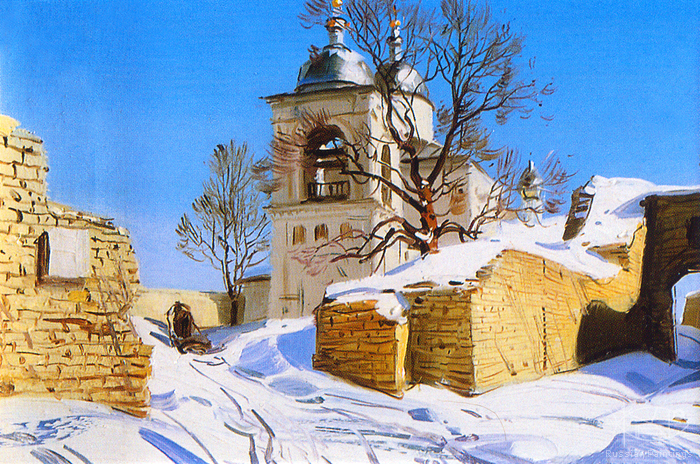 Matreshin Alexander - 'Old Fortress in Izborgsk'