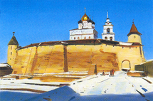 Matreshin Alexander - 'Pskov.View on the Kremlin'