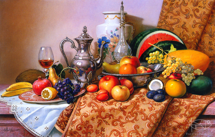 Matreshin Alexander - 'Still Life with Fruits'