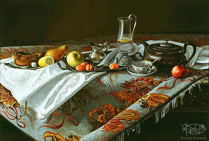 Matreshin Alexander - 'Still Life with Gobelin'