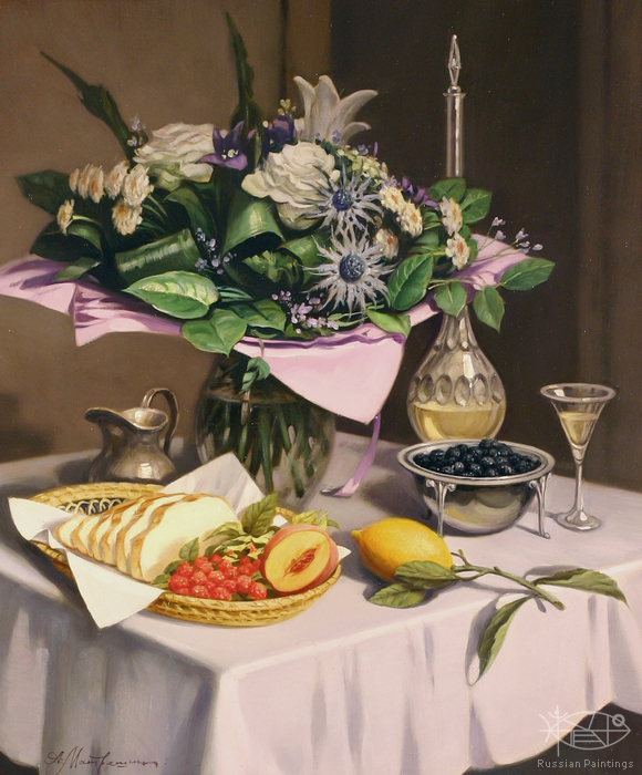 Matreshin Alexander - 'Still Life with Lemon'