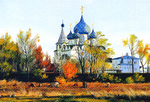 Matreshin Alexander - 'Suzdal. View on the Rozhdestvenskiy Monastery'