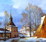 Matreshin Alexander  - 'The First Snow in the Kirillo-Belozerskiy Monastery'