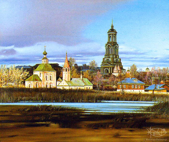 Matreshin Alexander - 'The Panorama of Suzdal with the Rizpolozhenskiy Monastery'