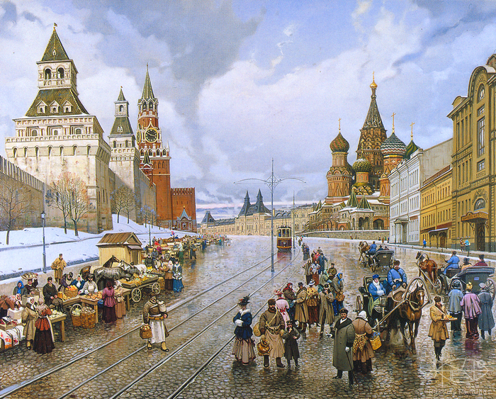 Matreshin Alexander - 'The Vasilyevskaya Square'