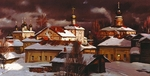 Matreshin Alexander - 'Winter Evening in the Borisoglebskiy Monastery'