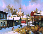 Matreshin Alexander - 'Winter in Rostov City'
