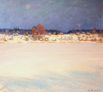 Melkov Yuriy Gennadyevich - 'Winter Evening'