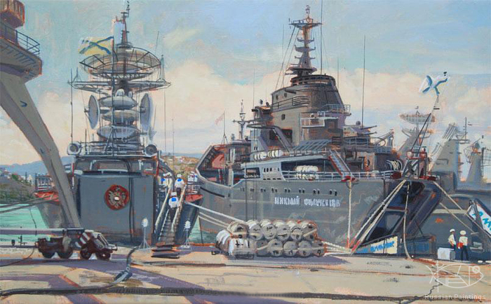 Mokrushin Valeriy - 'The North Pier. Sevastopol'