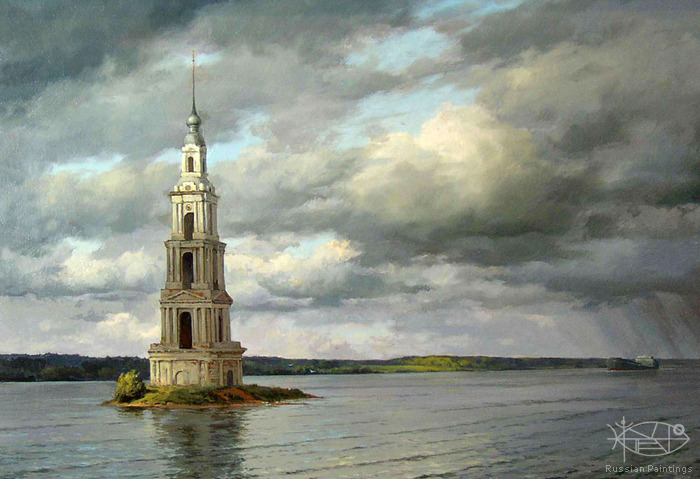 Osinin Pavel - 'Bell Tower. The Volga River'