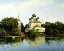 Osinin Pavel - 'Church on the Volga River'