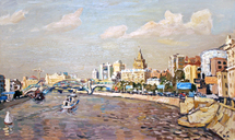 Polienko Ivan - 'Embankment of the Moskva River'