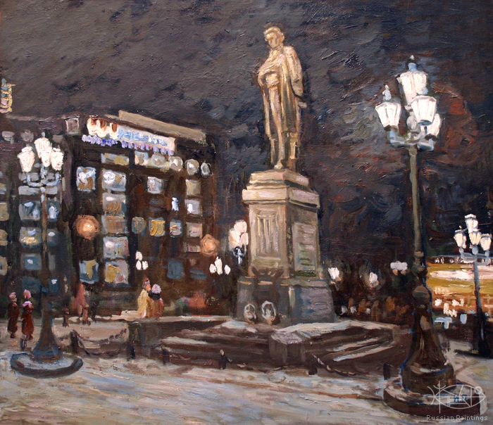 Polienko Ivan - 'Evening at the Monument to A.S. Pushkin'