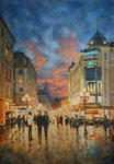 Razzhivin Igor - 'Bright Colors of the Arbat'