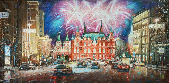 Razzhivin Igor - 'Capital in Holiday Lights'