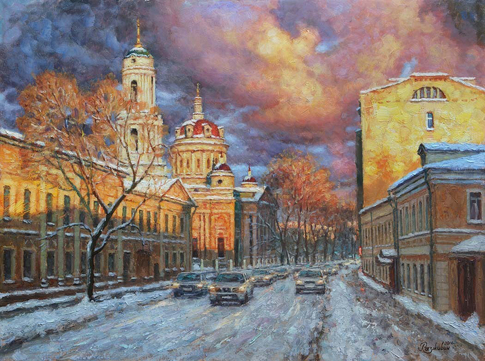 Razzhivin Igor - 'Golden evening. The A. Solzhenitsyn Street'