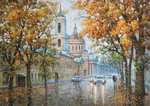 Razzhivin Igor - 'Leaf Fall in the City'