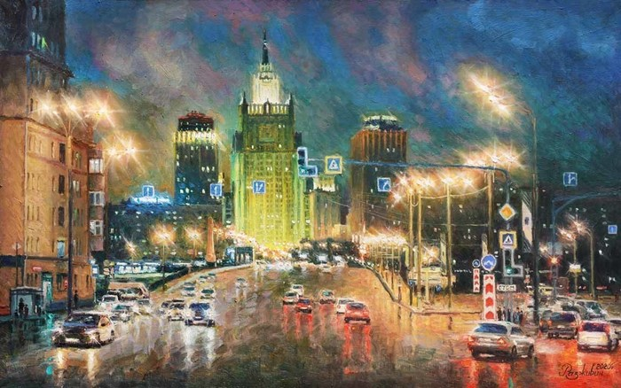 Razzhivin Igor - 'Lights of Moscow at Night. Ministry of Foreign Affairs'