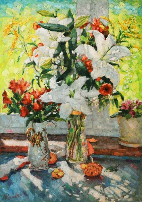 Razzhivin Igor - 'Lilies at the Window'