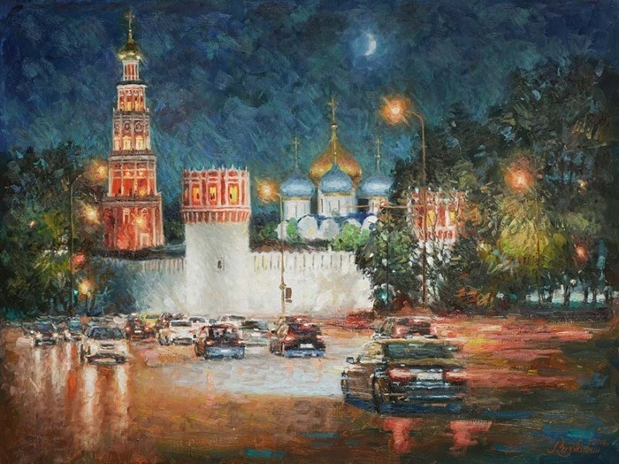 Razzhivin Igor Vladimirovich - 'Monastery in the Night Decoration'