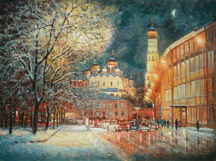 Razzhivin Igor - 'On the Winter Street, in the Middle of the Evening Lights...'