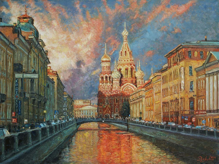Razzhivin Igor - 'Shades of St. Petersburg Evening'