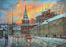 Razzhivin Igor Vladimirovich - 'The Beauty of the Winter Sunset'