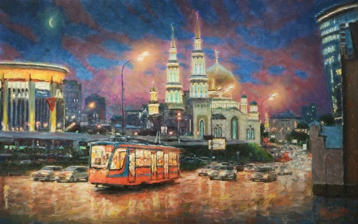 Razzhivin Igor Vladimirovich - 'The Evening Lights of Moscow'