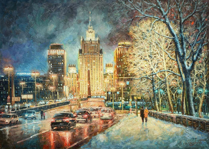 Razzhivin Igor - 'The Ministry of Foreign Affairs. Frosty Evening'