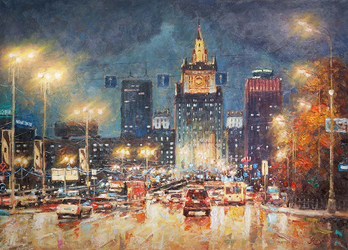 Razzhivin Igor Vladimirovich - 'The Ministry of Foreign Affairs in the Evening Lights'