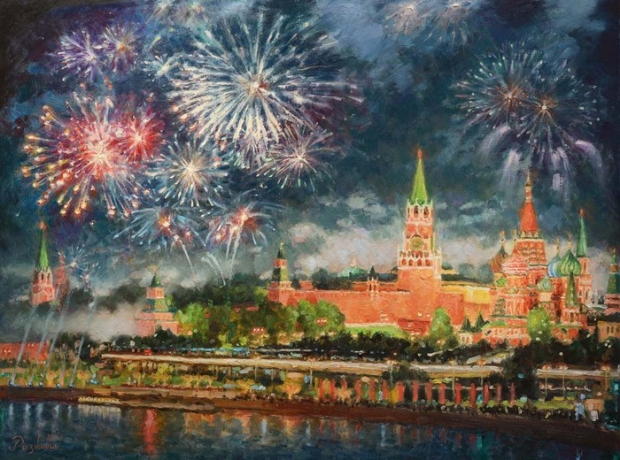 Razzhivin Igor - 'The Sky Sparkles over Moscow'