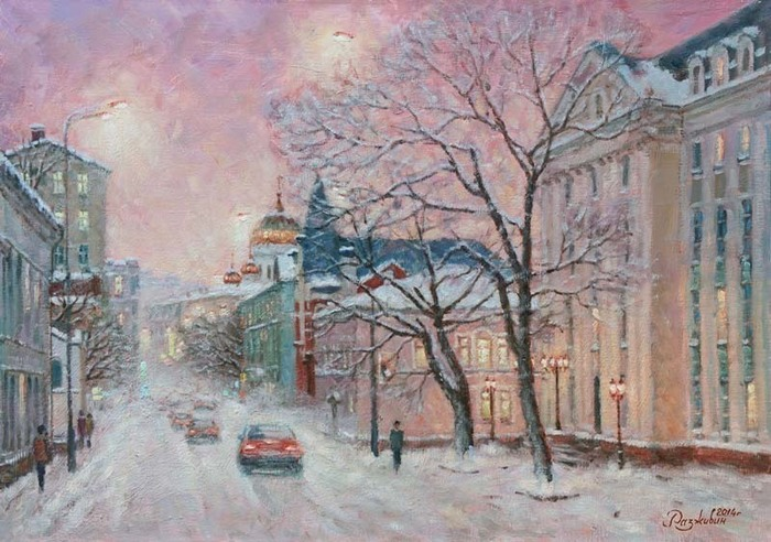 Razzhivin Igor - 'Winter Evening on Ostozhenka'