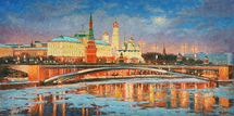Razzhivin Igor Vladimirovich - 'Winter Night. Kremlin in the Moonlight'
