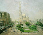 Romanow Vladimir - 'Cathedral Mosque in Cairo'