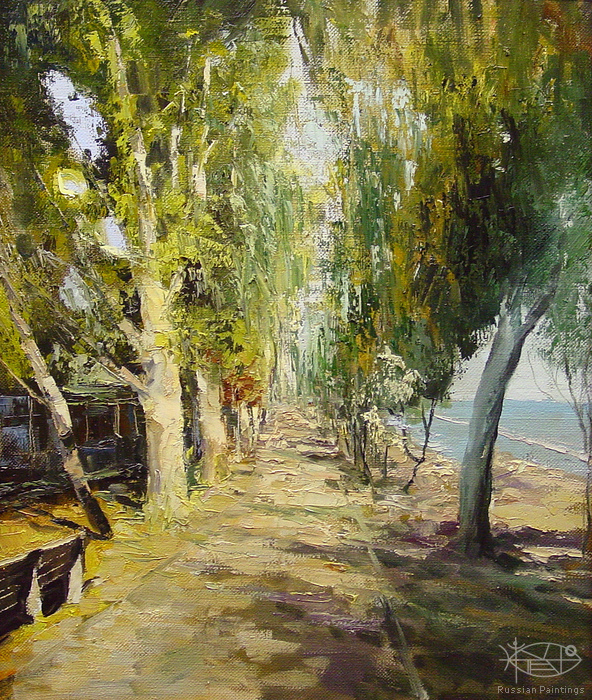 Romanow Vladimir - 'Embankment by the Sea'